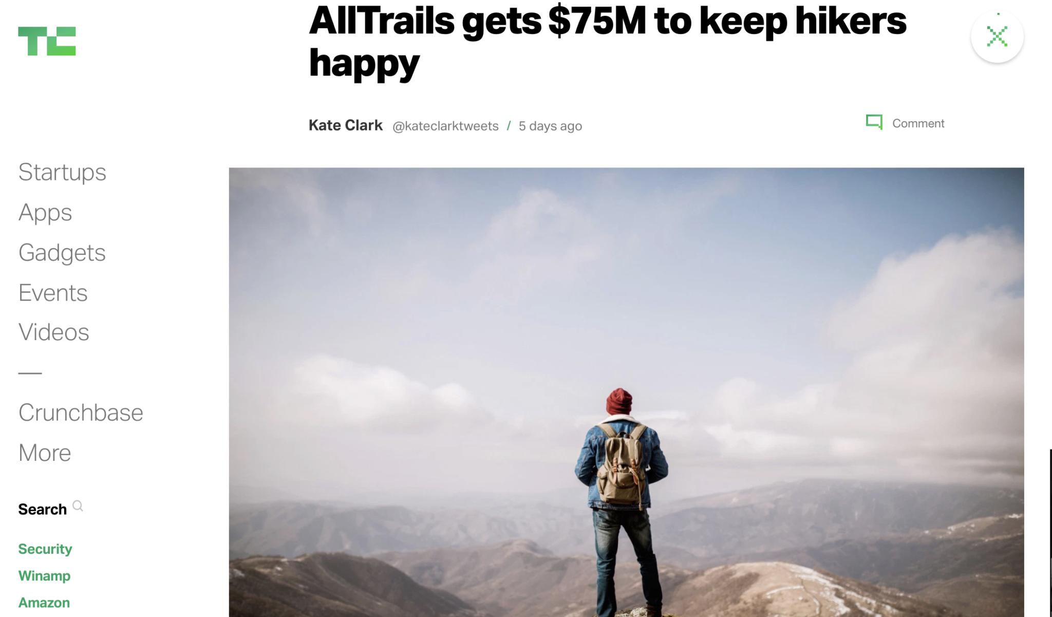 AllTrails, TechCrunch