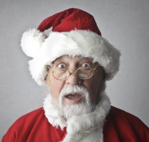 First Snow Santa Claus