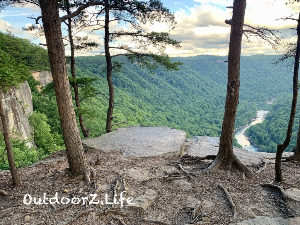 A scenic overlook on the Endless Wall Trail